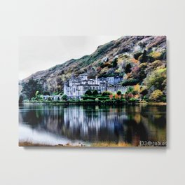 A Castle in Reflection Metal Print