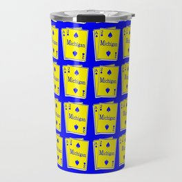 A-DUECE MICHIGAN PLAYING CARD Travel Mug
