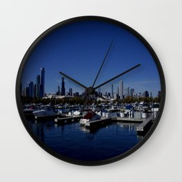 South Side Skyline (Chicago Northerly Island Collection) Wall Clock