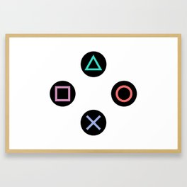 Play with Playstation Controller Buttons Framed Art Print