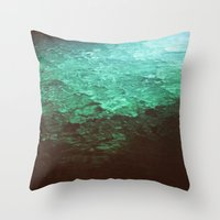 pool Throw Pillows featuring Pool by Dulcinee