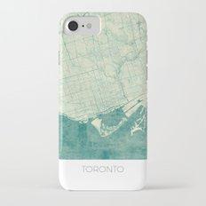 Toronto Map Blue Vintage iPhone 7 Slim Case