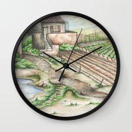 Italian Wine Country Wall Clock