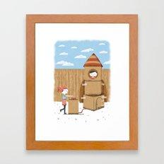 Cardboard Dreams Framed Art Print