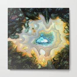 Geode Fairyland - Inverted Art Series Metal Print