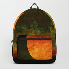 """Green Lemon & Golden Night Dream"" Backpack"