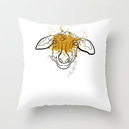 Sheep Shepherd - One Line Drawing Throw Pillow