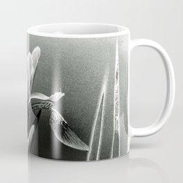 Beautiful Blue Flag Iris in black and white Coffee Mug