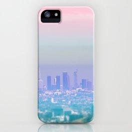 Los Angeles Scenic Southern California Landscape Colored Sun Haze Wall Art Print iPhone Case