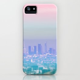 Los Angeles Scenic Southern California Landscape Colored Sun Haze Wall Art Print iPhone Case