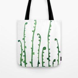 green fern watercolor Tote Bag