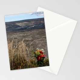 offering for volcano goddess Pele Stationery Cards