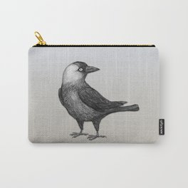 Western jackdaw pencildrawing Carry-All Pouch