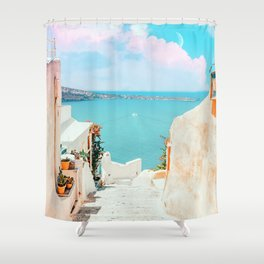 Surreal Greece #photography #travel Shower Curtain