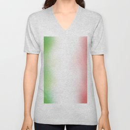 flag of Italy -with cloudy color Unisex V-Neck