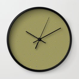 Yellow grey lines Wall Clock