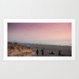 Beach in Hossegor, France, 2013 Art Print