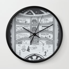 Darth Mall Wall Clock