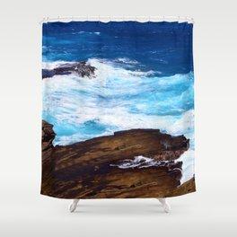 Hawaiian Rocking, Rolling Surf Waves Shower Curtain