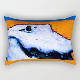Gator Art - Swampy - Florida - Sharon Cummings Rectangular Pillow