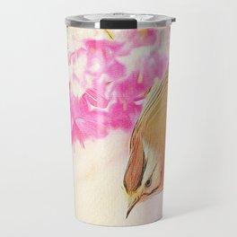 Taiwan Yuhina with Cherry Bloosom Travel Mug