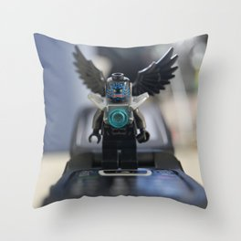 Calling the Bat Mobile Throw Pillow