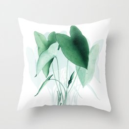 Green Plants Throw Pillow