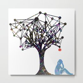 the Apple Metal Print