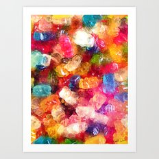 Gummy Bears Art Print