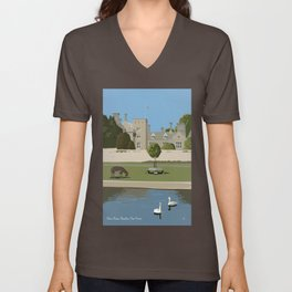 Palace House, Beaulieu, New Forest Unisex V-Neck