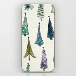 Xmas trees iPhone Skin