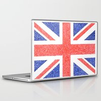british flag Laptop & iPad Skins featuring The Intricacies of the British Flag by VanZandesign