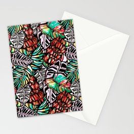 Bananas and exotic leaves. Stationery Cards