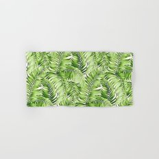 Greenery palm leaves Hand & Bath Towel