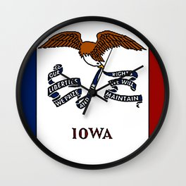 Fancy Flag:  Iowa Wall Clock