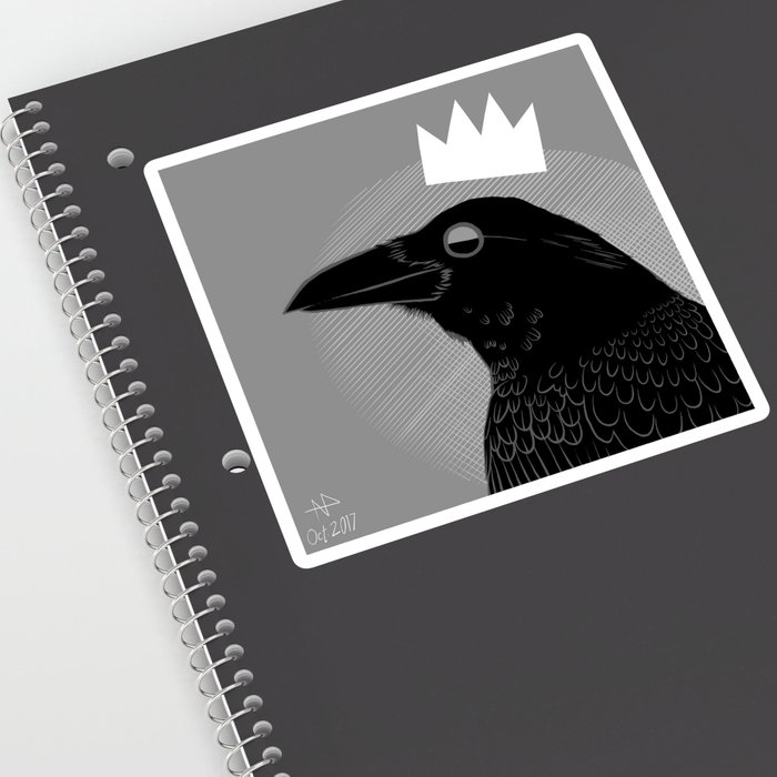 King of Crows Sticker
