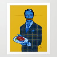 hannibal Art Prints featuring Hannibal by Leif Jones