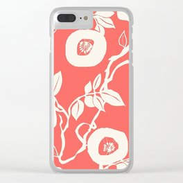 trailing vine coral Clear iPhone Case