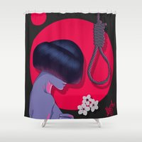 blossom Shower Curtains featuring Blossom by Musya