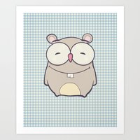 hamster Art Prints featuring Hamster by Mr and Mrs Quirynen