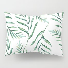 Green Leaves Pillow Sham
