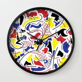 Primary Color Wall Clock