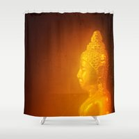 thailand Shower Curtains featuring Buddha from Thailand  by Julian Bound