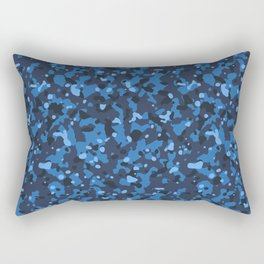 Blue Abstract Camouflage Rectangular Pillow