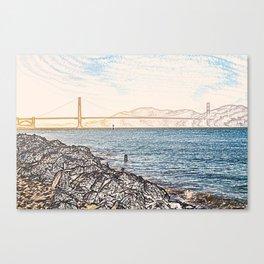 Golden Gate Bridge ArtWork Painting Canvas Print