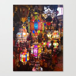 Lamps in the Souk, Fez Morocco, Africa Canvas Print