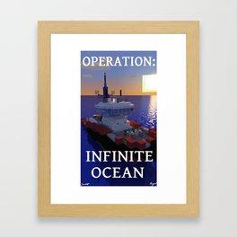 """Minecraft - Operation Infinite Ocean -Tug """"Raffy"""" Framed Art Print"""