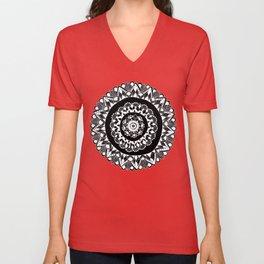 Full Moon Mandala Unisex V-Neck