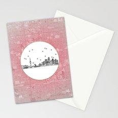 Beijing, China Skyline Stationery Cards