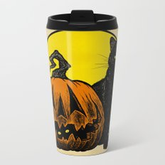 Still Life with Feline and Gourd Metal Travel Mug